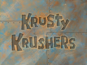 In The Krusty Krushers Episode,what is the colour of patrick's clothes?