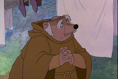 friar tuck was portrayed as a badger but what was it