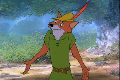 Who was the original choice to perform the voice of Robin Hood, but was replaced by Brian Bedford?