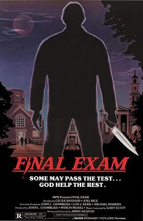 FINAL EXAM: T/F: The killer was wearing a mask.