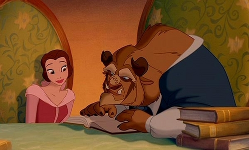 """During the song """"Human Again"""", what story is Belle reading to the Beast?"""