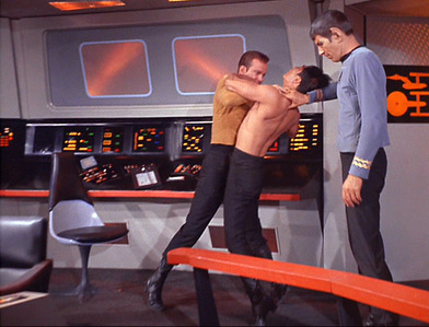 "Complete the quote: ""Take _____ here to sickbay""."
