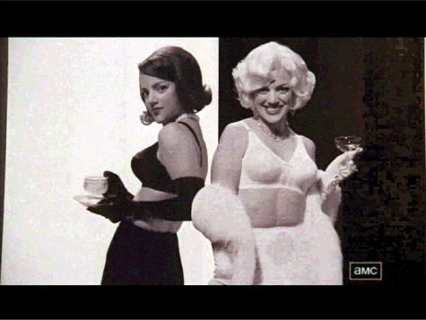 In Paul Kinsey's informal Maidenform ad pitch, is Joan a Marilyn of a Jackie?