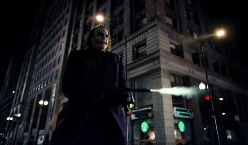 "What gun is Joker holding during the famous ""HIT ME!"" scene?"