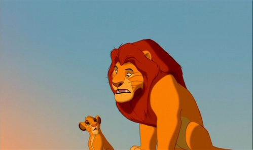 What is Simba's first line?