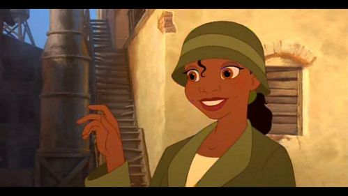 Who drives the car of Mr. Fenner and Mr. Fenner after they meet Tiana in front the old mill?