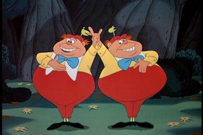 Who is the voice of Tweedledum & Tweedledee ?