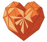 What does the orange-colored heart symbolizes?