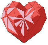 What doe the red-colored heart symbolizes?