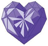 What does the purple-colored heart symbolizes?