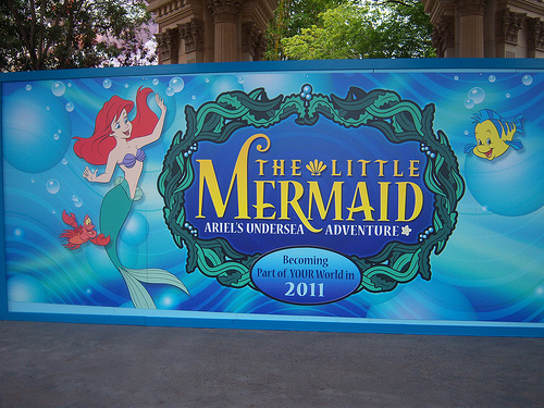 "Which Disney Theme Park has begun construction on a new ride: ""Ariel's Undersea Adventure"""