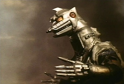 "There are  three deadly monsters that the the cyborg girl in-visions in ""Terror of Mechagodzilla""?"