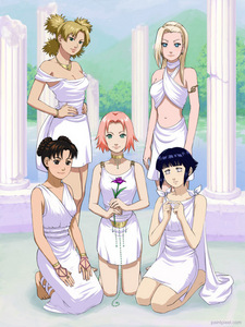 Of the Naruto Girls How Many of them live in Konoha?