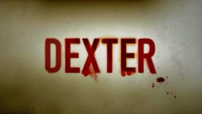 In season one, what was Dexter's first reaction after entering room #103 at the Marina View Hotel to investigate the crime scene?