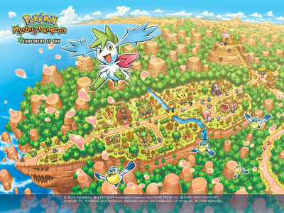 Who does Shaymin meet at Sky peak?