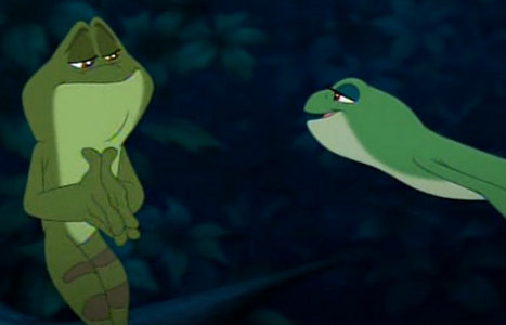 How many character slept in The Princess and the Frog?