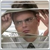 """Episode:Fun Run Dwight: """"Blink once if you want me to pull the plug."""" What's the next line?"""