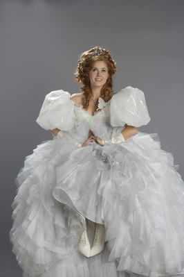 What did Giselle gather for her wedding dress