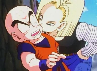 When did Android #18 kiss Krillin?
