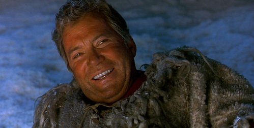The stunt where Kirk falls into the fire during the fight in the mines from ST6 was actually performed by William Shatner?