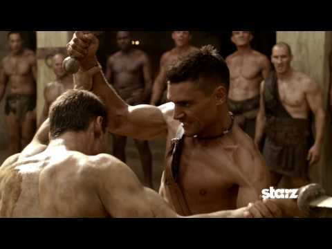What happens to save Crixus from being sold to a rival ludus?
