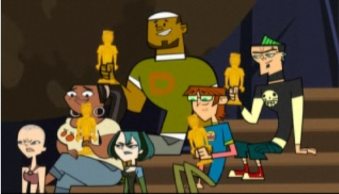 Who is the first person to eliminate themselves in the Total Drama series?