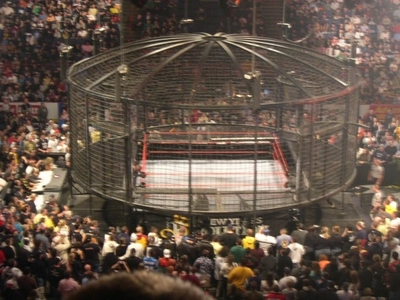 Who interrupted in the elimination chamber match of 2010 and attacked the undertaker?