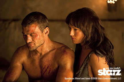 "During his dream, Spartacus sees his wife and she asks him, ""Why have you killed him?"" Who is she referring to?"