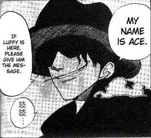 When did Ace appear for the first time in the manga?