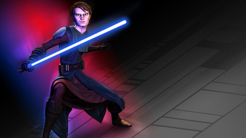 How old is Anakin in the Begging of the Clone Wars movie?