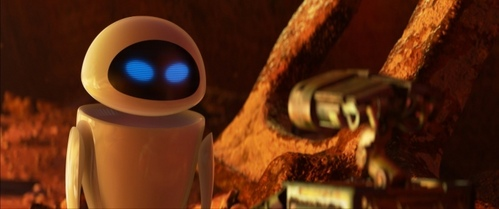 In WALL-E, how long does the movie go on before its first bit of dialouge?