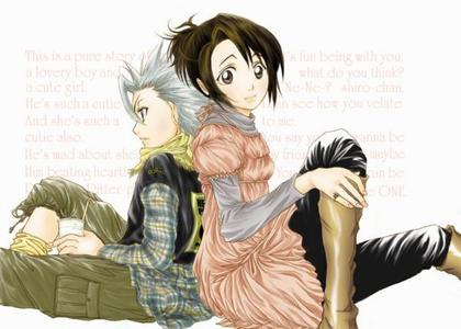 Where did momo grow up together with toshiro?