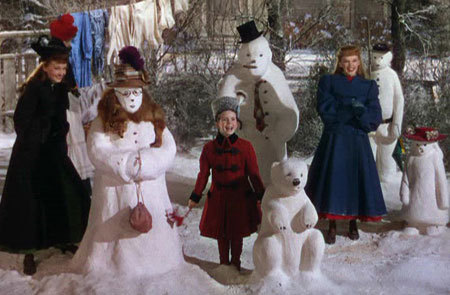In the film Meet Me In St Louis - What happened to the snowmen ?