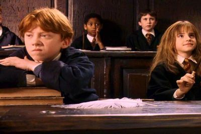 Who Did Ron Make Cry After Charms Class In The Movie The Philosphers Stone The Harry Potter Trivia Quiz Fanpop