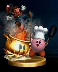 In super smash bros brawl how many bangs does kirby make in his final smash?