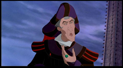 who says this 'frollo's nose is long, and he wears a truss' ? - the classic disney trivia quiz