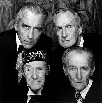 What movie stars Vincent Price, Christopher Lee and Peter Cushing?