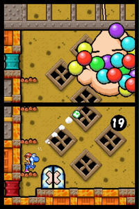 What is the boss in 1-8 on Yoshi's island DS?