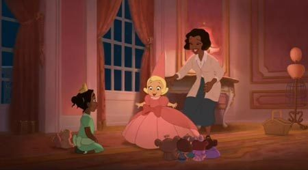 Tiana called her parents are _________________