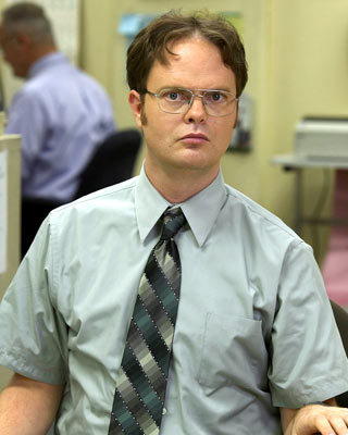 What were the first words Dwight ever said on the show?