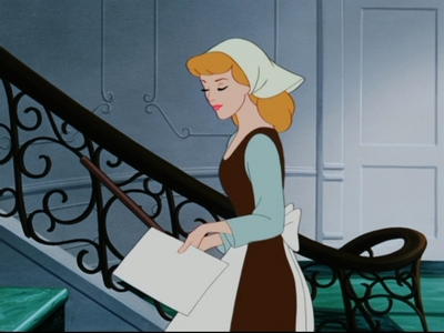 What is Cinderella carrying?