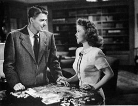 what movie shirley temple with ronald reagan in ?