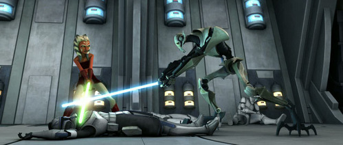 Who was/were the surviving trooper(s) after their battle with Grievous in the Skytop Station?