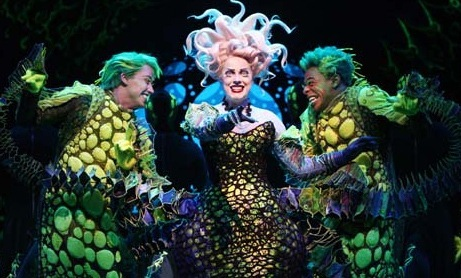 True or False: In the Broadway show Ursula is Ariel's Aunt?