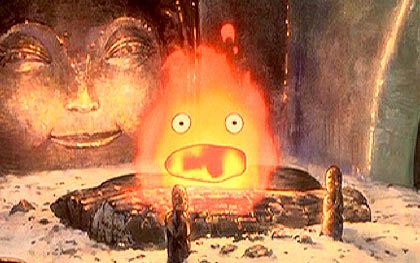 What does the Witch of the Waste feed Calcifer?