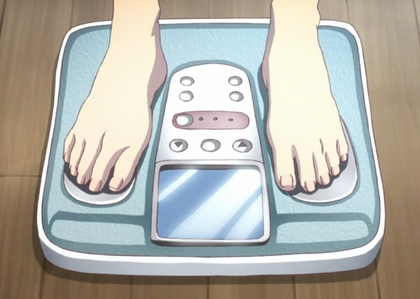 It is shown that Hitagi's weight is ______.