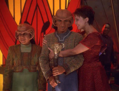 In which episode is Rom suddenly named leader of the Ferengi financial empire?