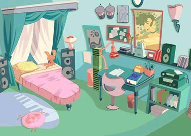 Hey...That room looks familiar...But who of the winxclub girls  stay here  and decorate it?