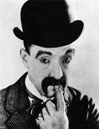 Here is a familiar face from slapstick comedy. He appeared in films with Charlie Chaplin, Harold Lloyd and Laurel & Hardy. Who is he?