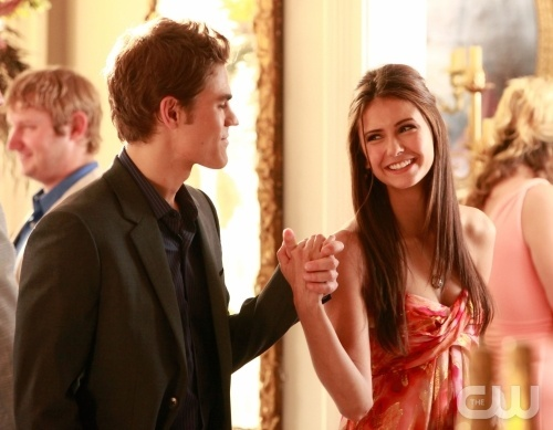 Who did Stefan and Elena invited in? (at the Founders Council Celebration)